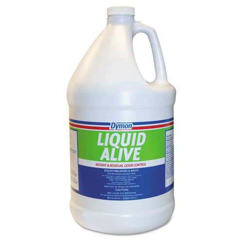 Dymon liquid Alive enzyme mold remover odor digester gallon bottles case of 4 replaces DYM33601 ITW33601