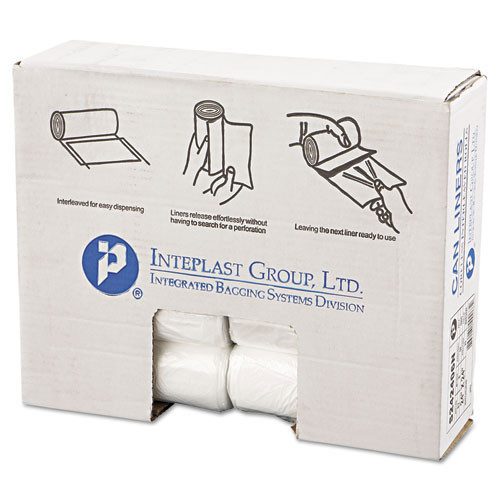Ibs ibss242406n 10 gallon trash bags case of 1000 clear 24x24 high density 6 mic regular strength premium coreless rolls