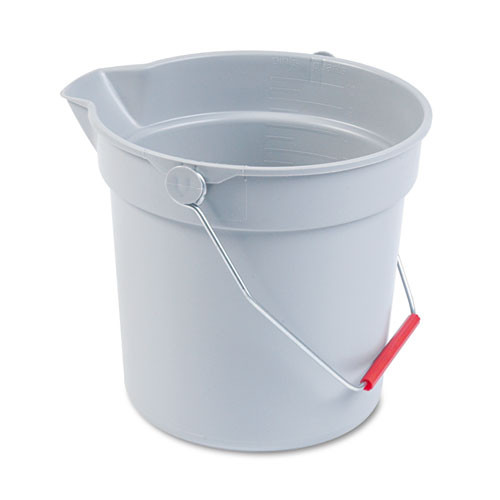 Rubbermaid 2963gra Brute bucket gray 10 quart replaces rcp2963gra rcp296300gy