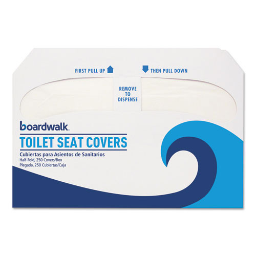 Boardwalk BWKK2500 Toilet seat covers disposable paper sanitary krystal case of 2500 covers
