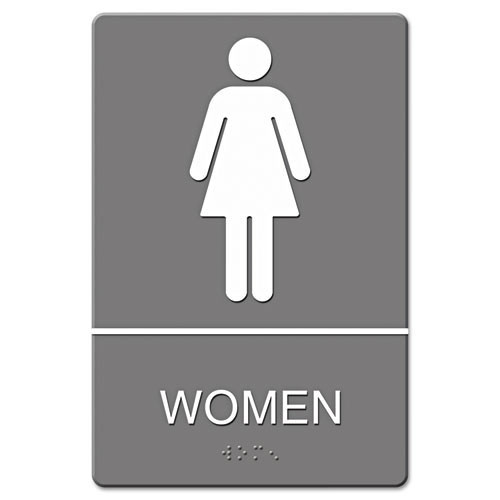 Women restroom sign meets ada requirements 6x9 inch gray replaces ust4816 us stamp and sign uss4816