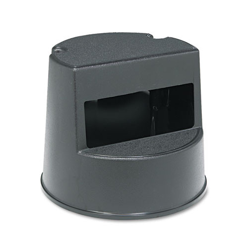 Rubbermaid 2523bla mobile two step stool supports up to 350 lb plastic black replaces rcp2523bla rcp252300bk