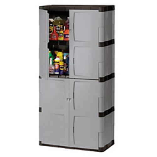 Rubbermaid storage cabinet 7083 4 shelves doors replaces rhp7083 rub7083