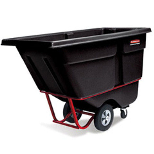 Rubbermaid 1306bla tilt truck 0.5 cubic yard 1400 lb. black
