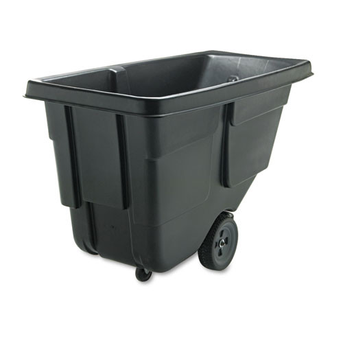 Rubbermaid 9t17bla tilt truck 0.5 cubic yard 300 lb. black replaces rcp9t17bla rcp9t1700bla