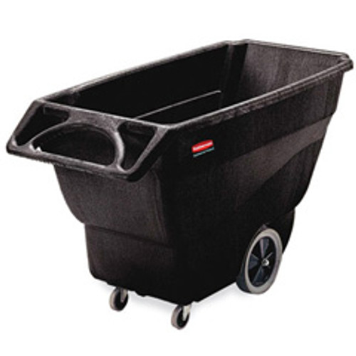 Rubbermaid 1011bla tilt truck 0.75 cubic yard 600 lb. black