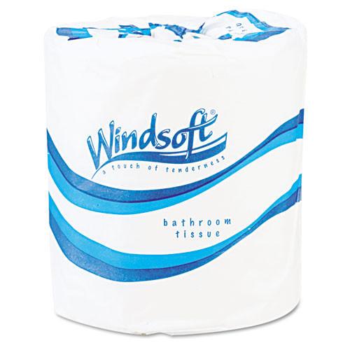 Windsoft WIN2200 standard roll bathroom tissue 2 ply 500 sheets 4.5x4.5 case of 96 rolls