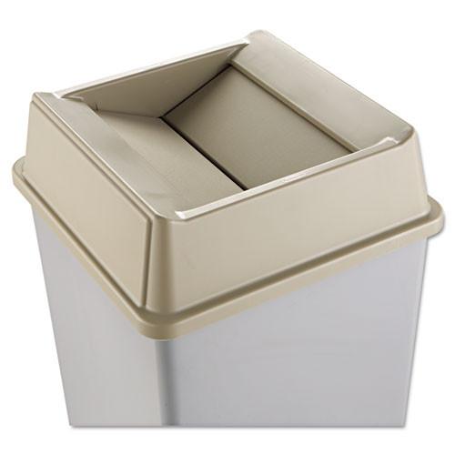Rubbermaid 2664bei Untouchable trash can top large Untouchable for 3958 3959 beige