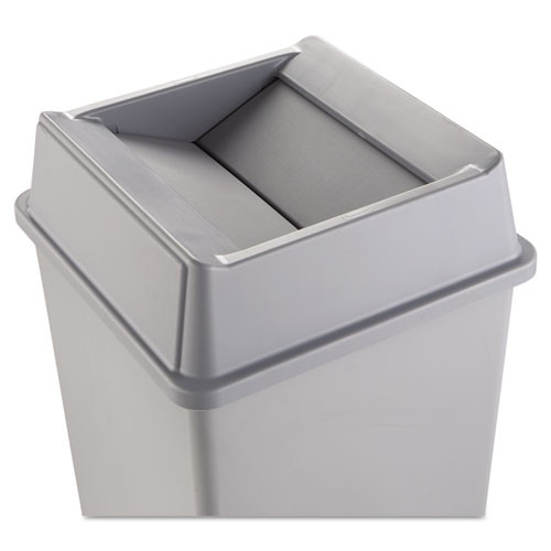 Rubbermaid 2664gra Untouchable trash can top large Untouchable for 3958 3959 gray replaces rcp2664gra rcp2664gray