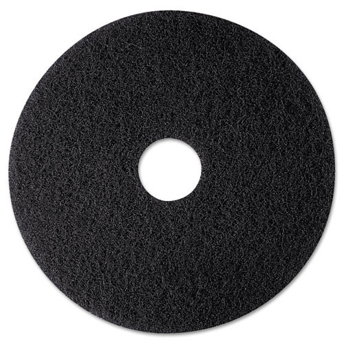 3M 7300 High Productivity black strip floor pads MMM08270 12 inch for stripping floor finish up to 600 rpm case of 5 pads replaces MCO08270