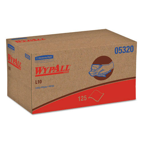 Wypall kcc05320 L10 all purpose towels 9.3x10.5 white case of 2550 wipes