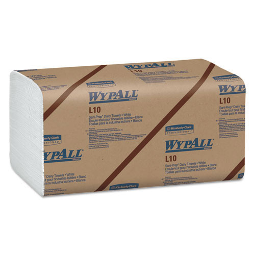 Wypall kcc01770 wipes L10 dairy towels 9.3x10.5 white case of 2400 towels