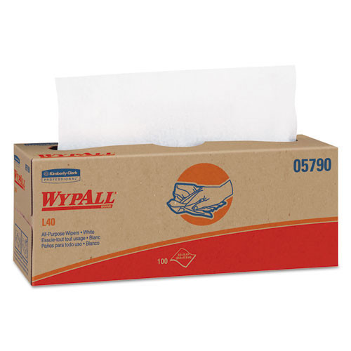 Wypall kcc05790 L40 all purpose white pop up box case of 900 wipes