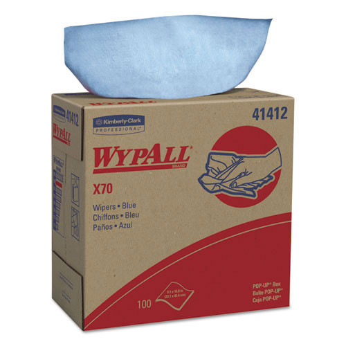 Wypall kcc41412 workhorse rags x70 9.1x16.8 blue case of 1000 wipes