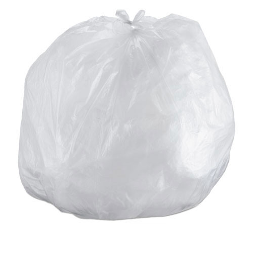 Ibs ibss434814n 56 gallon trash bags case of 200 natural 43x48 high density 14 mic heavy duty strength coreless rolls