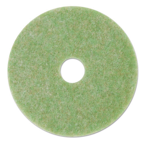 3M 5000 green Topline Autoscrubber floor pads MMM18045 13 inch for light scrubbing case of 5 pads replaces MCO18045