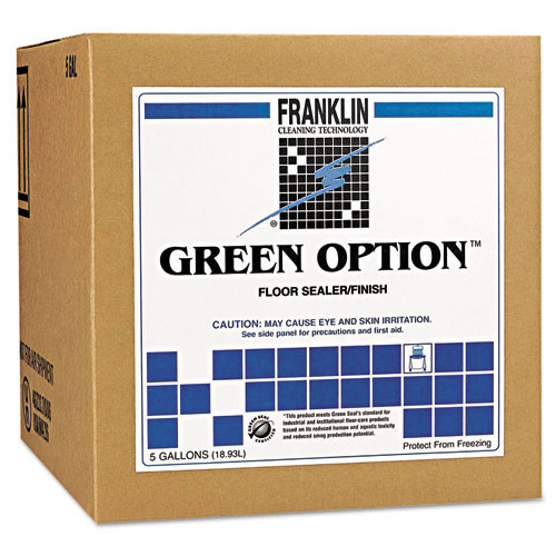 Franklin fklf330325 green option floor finish Green Seal Certified 19 per cent solids 5 gallon cube replaces frkf330325