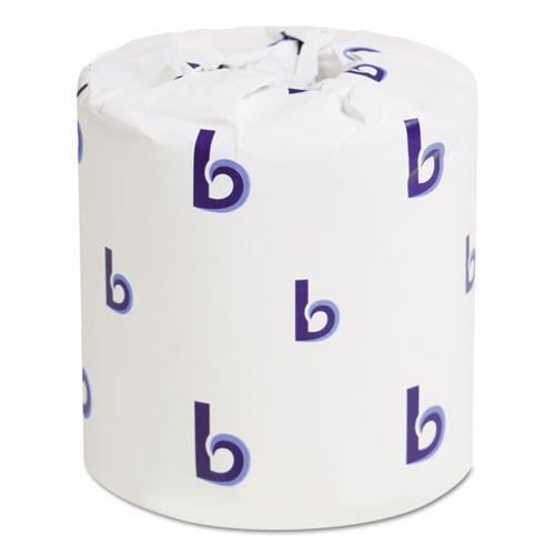 Boardwalk BWK6150 standard roll bathroom tissue 2 ply 500 sheets 4.5x3.75 case of 96 rolls