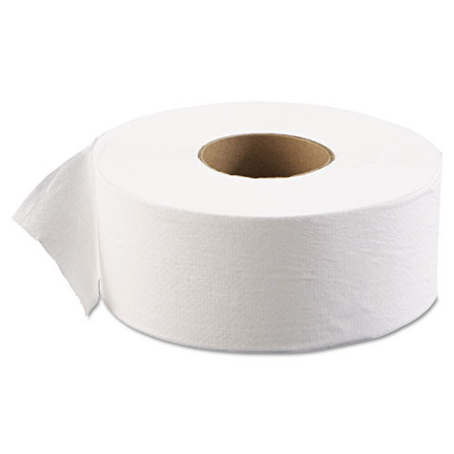 Boardwalk BWK6101 jumbo jr bathroom tissue 9 inch 1 ply 2000 foot 3.625x9.125 case of 12 rolls