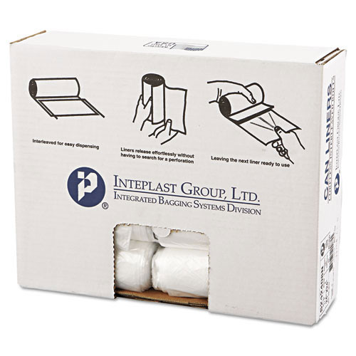 Ibs ibss242408n 10 gallon trash bags case of 1000 natural 24x24 high density 8 mic regular strength coreless rolls