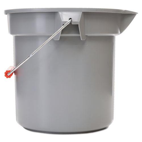 Rubbermaid 2614gra Brute plastic bucket 14 qt with handle gray 12 dia x 11.25h replaces rcp2614gra rcp261400gy