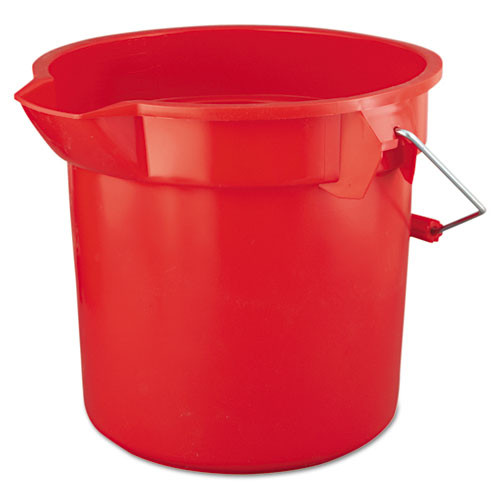 Rubbermaid 2614red Brute plastic bucket 14 qt with handle red 12 dia x 11.25h gw