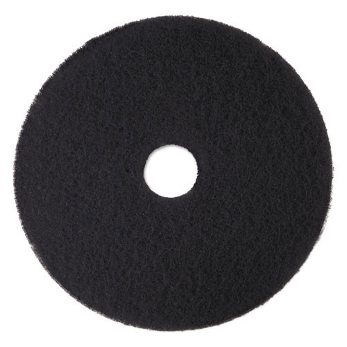 3M 7300 High Productivity black strip floor pads MMM08273 15 inch for stripping floor finish up to 600 rpm case of 5 pads replaces MCO08273