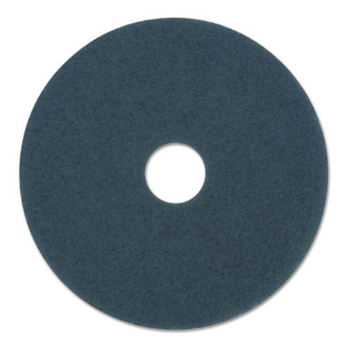 Boardwalk BWK4016BLU blue scrub floor pads 16 inch up to 300 rpm case of 5 pads