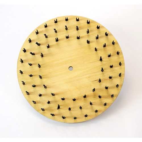 Flat butcher wire steel brush 22 gauge 773718sr150NP92 with 92 clutch plate with riser 18 inch block by Malish