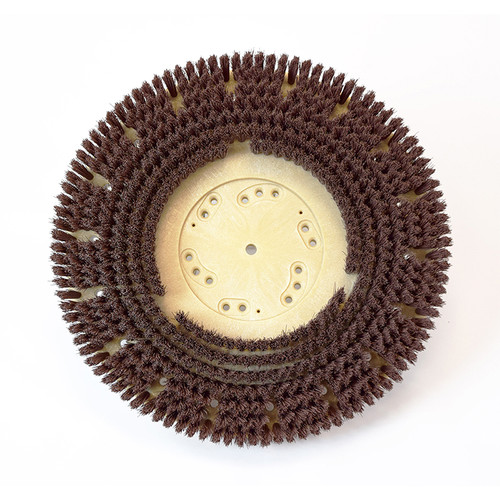 Floor scrubber brush .018 nylon 500 grit Malgrit Lite 8134164148pmb with 4148pmb clutch plate for 17 inch Kent Razor 16 inch block replaces l08837067 by Malish