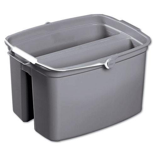 Rubbermaid 2617gra double pail bucket 17 quart with handle gray 14.625w x 13.875d x 10.125h