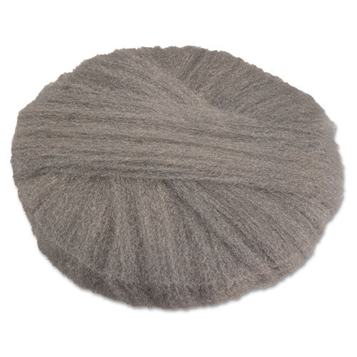 Steel wool floor scrubber pads 17 inch radial grade 0 fine for cleaning and polishing case of 12 pads replaces gmt120170 gma120170