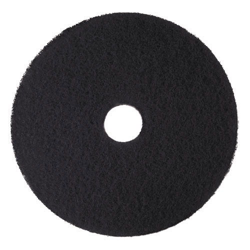 3M 7300 High Productivity black strip floor pads MMM08276 18 inch for stripping floor finish up to 600 rpm case of 5 pads replaces MCO08276