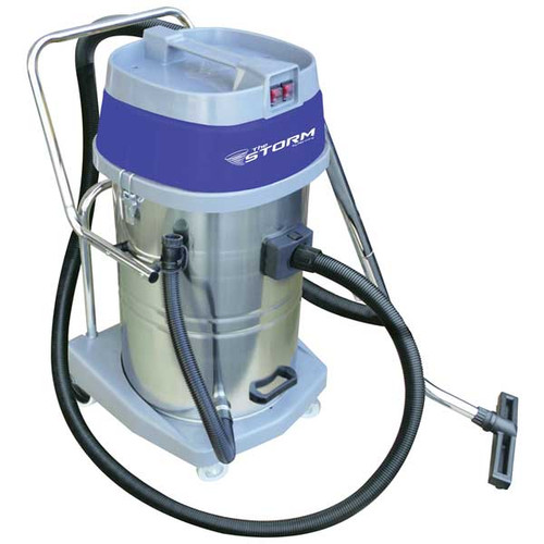Mercury Storm WVC20 20 gallon wet dry vacuum stainless steel tank 2.67hp dual motors with hose tool kit
