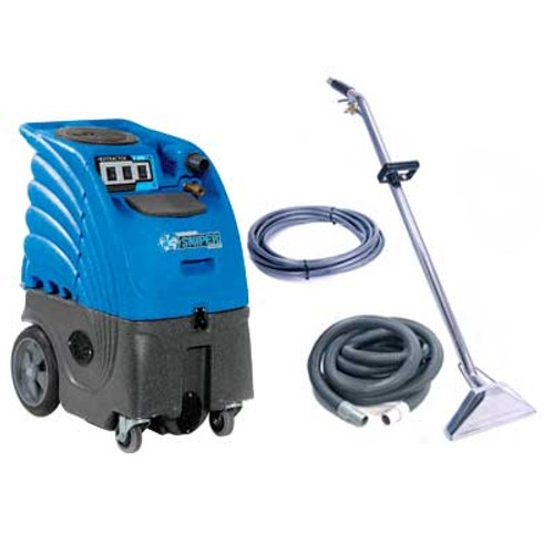 Sandia Sniper6 carpet extractor 86r3100h0500 with heater 6 gallon canister with stainless floor wand and 25 foot hose kit 3 stage vac motor 100psi pump