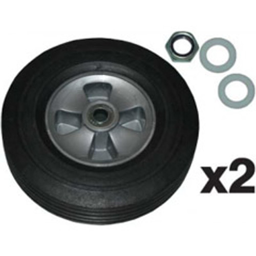 Rubbermaid FG1004L30000 tilt truck part 10 inch wheel kit 2 ea wheels for tilt truck 1304