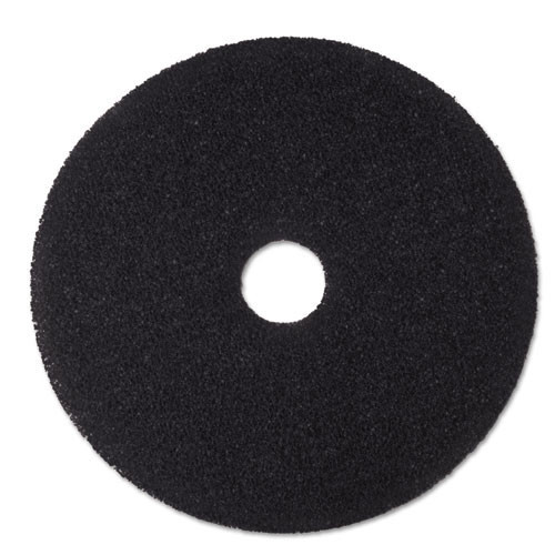 3M 7200 black stripper floor pads MMM08381 19 inch for stripping off floor finish and wax up to 600 rpm case of 5 pads replaces MCO08381