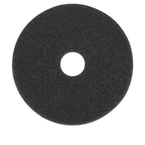 Boardwalk BWK4019HIP high performance black strip floor pads 19 inch up to 600 rpm case of 5 pads