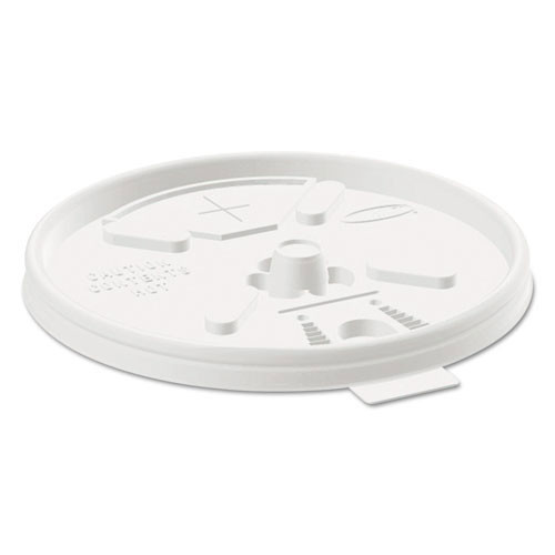 Plastic lids for hot or cold foam cups translucent lift n lock lid with straw slot case of 1000 dart dcc16ftls