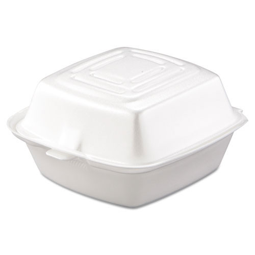 Foam hinged lid carryout containers 5 inch medium sandwich case of 500 dart dcc50ht1