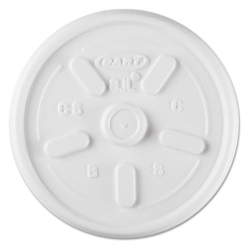 Plastic lids for hot or cold foam cups white vented lid case of 1000 dart dcc8jl