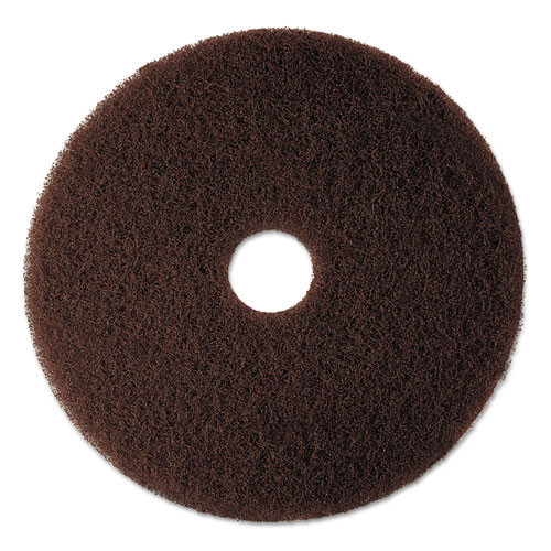 3M 7100 brown stripper floor pads MMM08448 20 inch for stripping off floor finish and wax up to 600 rpm case of 5 pads replaces MCO8448