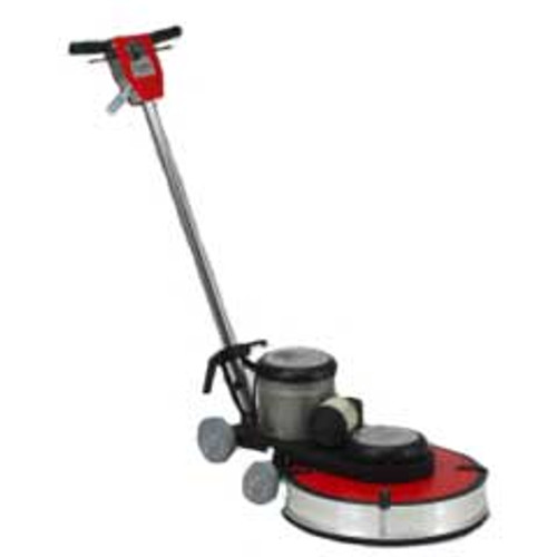 Hawk Floor Buffer Burnisher Machine High Speed 19 inch HP15201800DC 1.5 hp 1800 rpm with dust control includes pad holder F180020DC