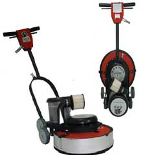 Hawk Floor Buffer Burnisher Machine High Speed 19 inch HCF15201500DC 1.5 hp 1500 rpm with dust control includes pad holder F150020CFDC