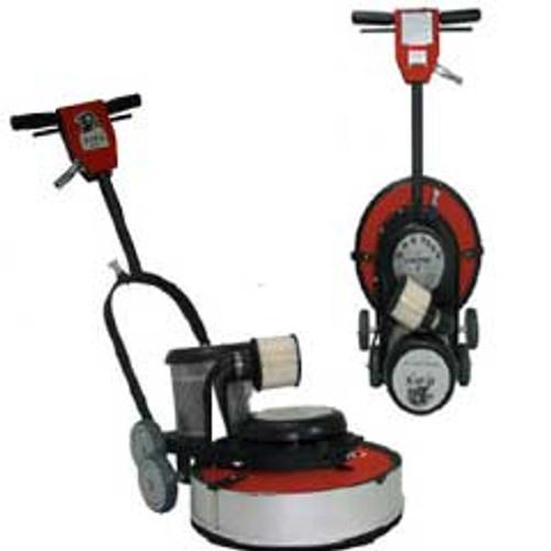 Hawk Floor Buffer Burnisher Machine High Speed 16 inch HCF15172000DC 1.5 hp 2000 rpm with dust control includes pad holder F200017CF