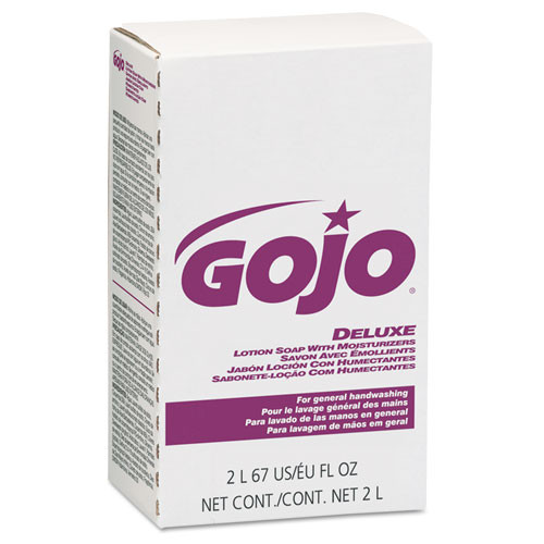 Gojo goj2217 nxt 2000ml handsoap refills deluxe lotion soap with moisturizers for nxt dispensers goj2230 goj2235