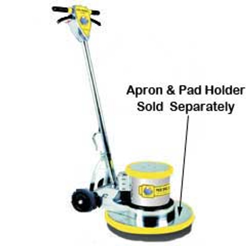 Mercury Boss 175 BOSS1 super heavy duty floor buffer scrubber machine interchangeable apron and pad holder sold separately 175 rpm 1.5 hp