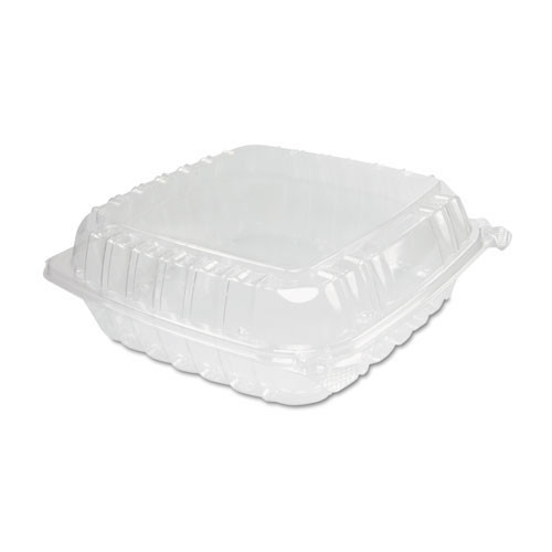 Clearseal clear hinged lid containers large 8.875 X 9.375 X 3 case of 200 Dart Dccc95pst1
