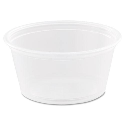 Conex Complements portion cups clear polypropylene 2oz size case of 2500 Dart Dcc200pc