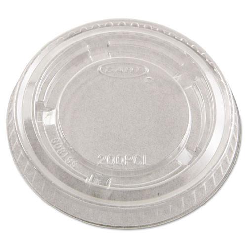 Conex Complements portion cup lids clear fits 1.5oz to 2oz Conex cups case of 2500 replaces dccpl2n Dart DCCPL200N